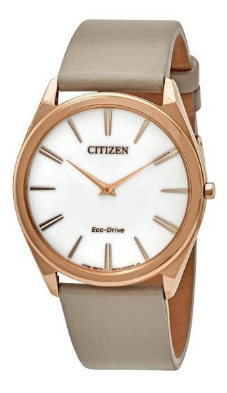 Relógio Citizen Eco-drive Stiletto Ladies Couro Rese Gold