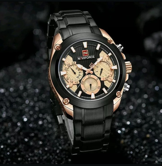 Relógio Masculino De Luxo Original Naviforce