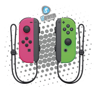 Nintendo Joycon (l / R) Rosa/verde Splatoon Switch