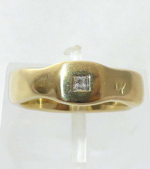Pocao2005- Anel Ouro 18k750 Diamante Grife Hstern 720