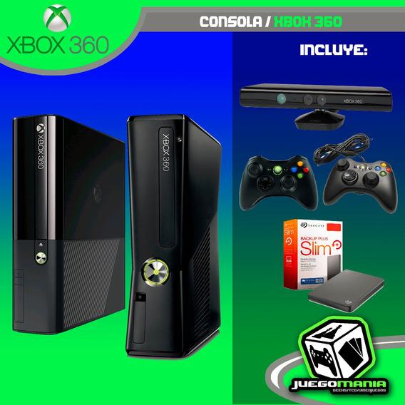 Xbox 360 Desbloqueada + Kinect + 2 Mandos Envio Gratis !!