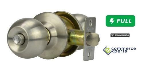 Imagen 1 de 4 de Cerradura Chapa Cilindrica Para Puerta Baño La Mejor