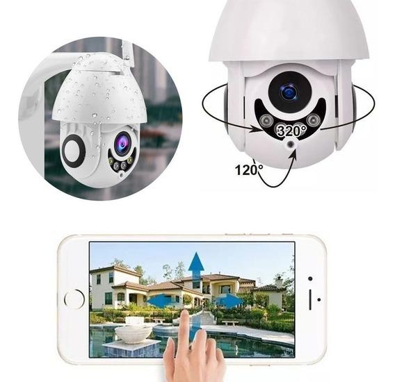 Camera Ip Rotativa Speed Dome Hd Wifi Resiste Agua Segurança