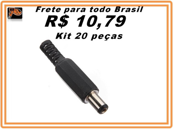 Plug Conector Macho P4 Pra Soldar Kit 20 Peças