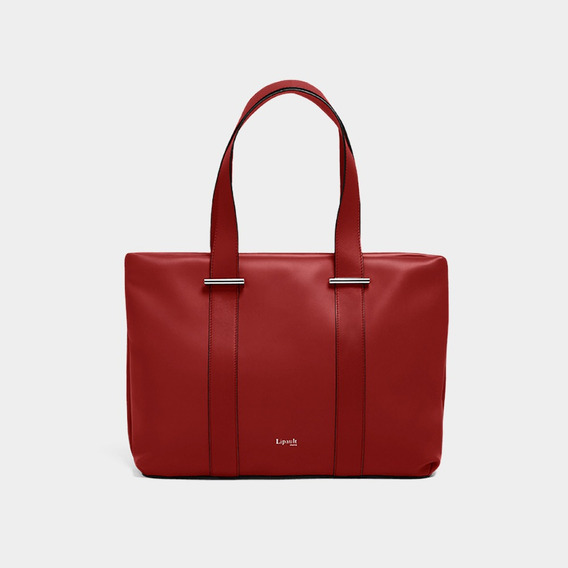 Bolsa By The Seine Large Tote Bag Casual Lipault Cherry Red