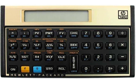 Calculadora Financeira 120 Funções Preto 12c Gold 1 Un Hp