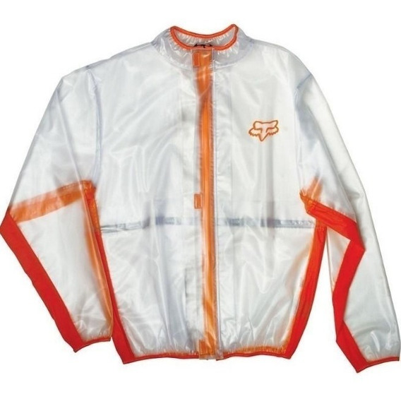 Campera Impermeable Fluid Motocross Atv Naranja Fox
