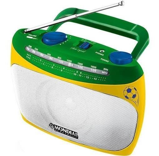 Som Rádio Portátil De Mão Mondial Rp02 Am Fm Tv Bivolt