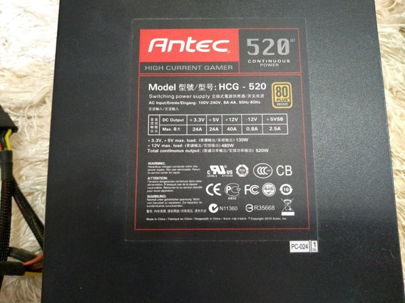 Fonte Atx Antec High Current Gamer 520 W