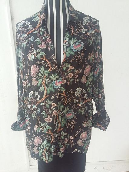 Camisa Estampada Muy Fresca, Zara Woman, Talle: M