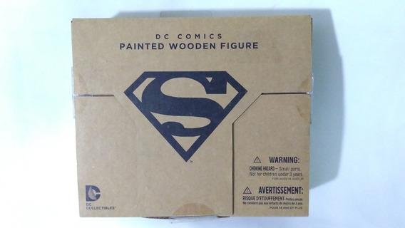 Painted Wooden Figure Dc Comics Superman Figura De Madera