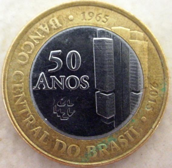 Moeda De 1 Real Comemorativa 50 Anos De Banco Central