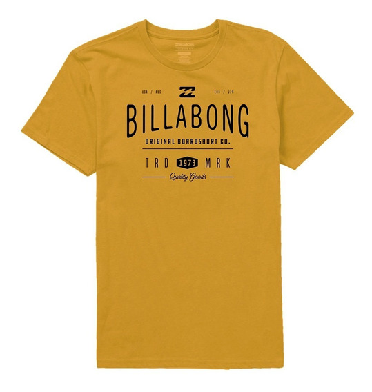 Remera M/c Billabong New Rockaway Tee Gold Hombre Mbremroc