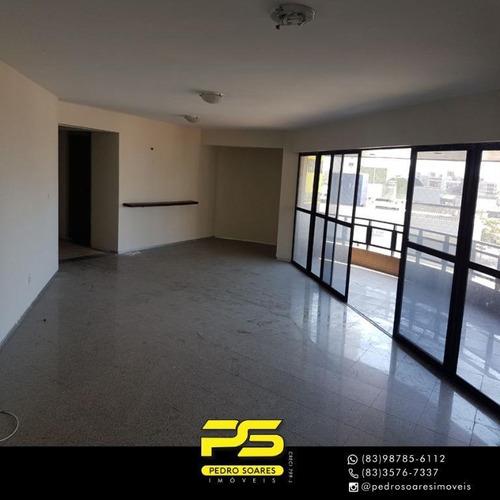 Apartamento Com 4 Dormitórios À Venda, 231 M² Por R$ 1.800.000 - Tambaú - João Pessoa/pb - Ap3639