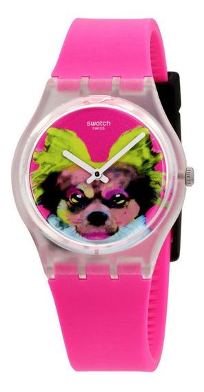Relógio Masculino Swatch Ge267 Pulseira De Silicone