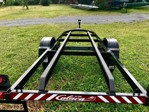 Carreta Reboque Para Embarcação Calaça Mod Eixo Normal De 6m