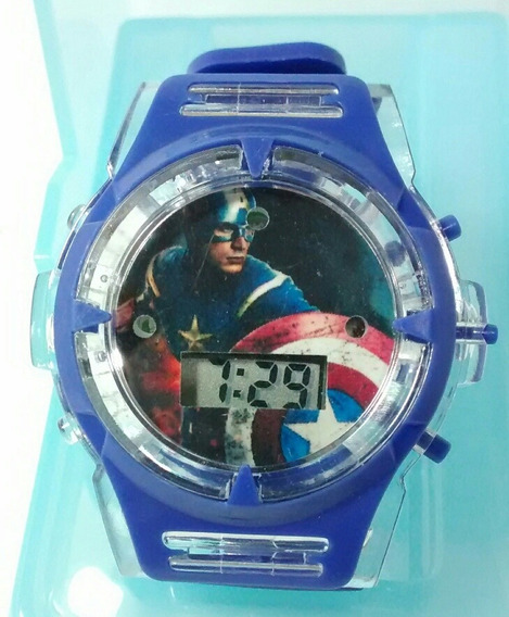 Relógio Os Vingadores Avengers Capitão América Promoção