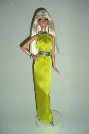 Barbie Collector The Look Red Carpet Vestindo Yellow Gown