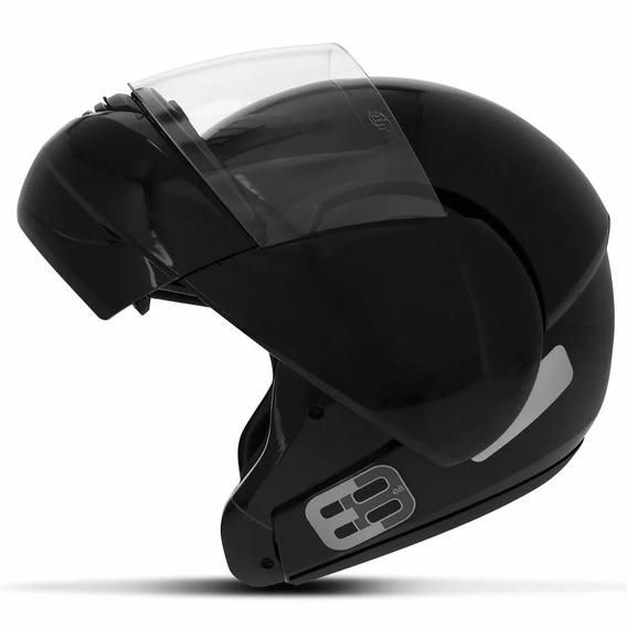 Capacete Moto Ebf E8 Robocop Escamoteável Articulado Preto
