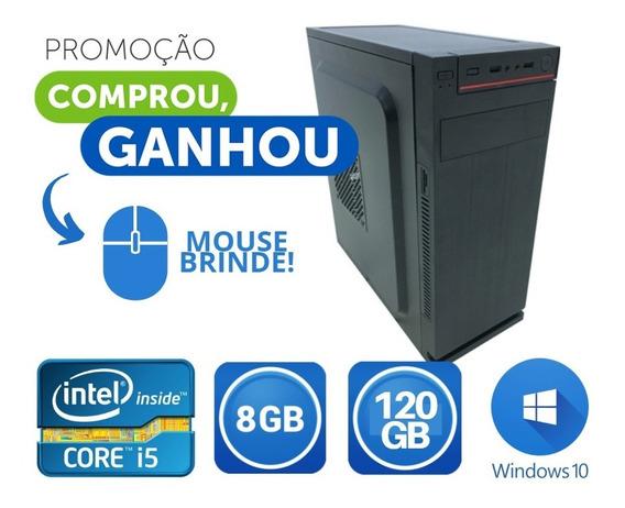 Computador Novo Core I5 8gb +wifi Em Ate 12x Sem Juros