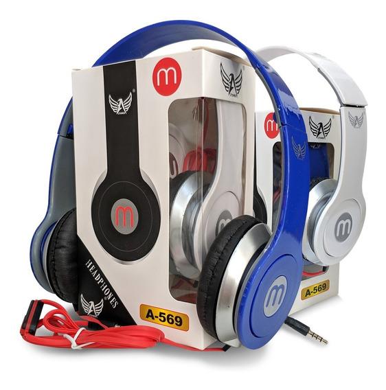 Kit 2 Fones Com Microfone Altomex Entrada P2 Modelo Beats