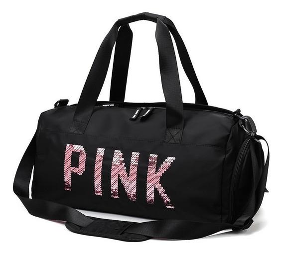 Bolsa Importada Luxo Pink Rosé Love Academia Treino Fitness