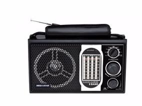 Rádio Portátil Am/fm/sw 8 Faixas Usb/sd/mp3 Bat Recarregavel