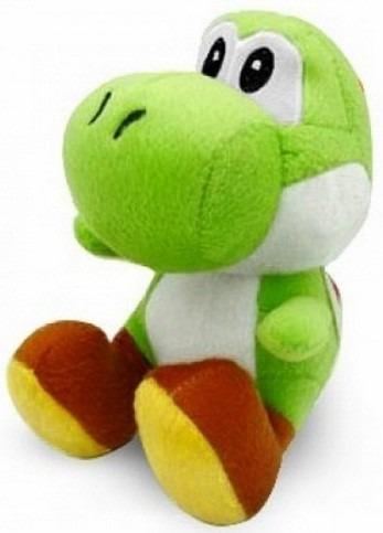 Yoshi Pelúcia Verde Turma Do Mario Bros 15 Cm Antialérgico