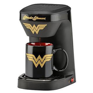Cafetera De Wonder Woman Con Taza Mujer Maravilla Importado