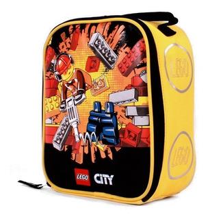 Lonchera Escolar Lego Niño Color Amarillo Lego Construcción