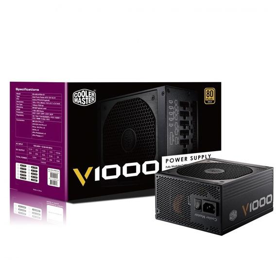 Fonte Atx 1000w V1000 Full Modular Cooler Master