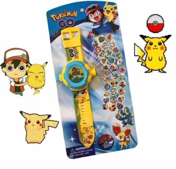 Relógio Infantil Projetor De 32 Imagens Pokémon Go Promoção