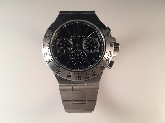 Reloj Bvlgari Diagono Pro Terra Chronograph 40mm De Acero.