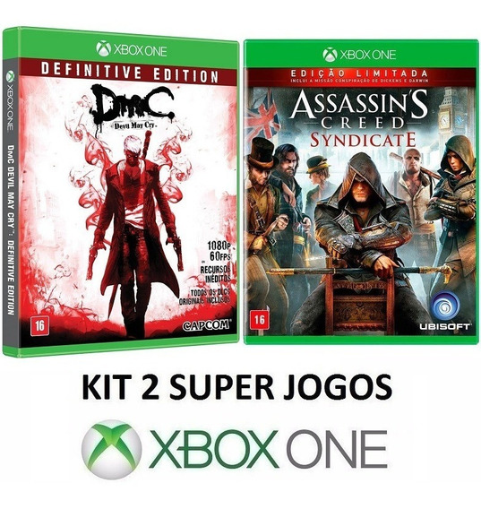 A. C. Syndicate + Dmc Devil May Cry - Midia Fisica Xbox One