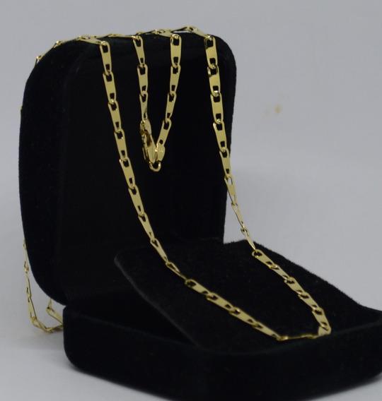 Corrente Piastrine De Ouro 18k 750 60 Cm