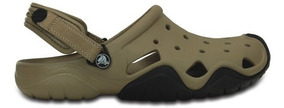 Zapato Crocs Caballero Swiftwater Clog Hombre Khaki/negro