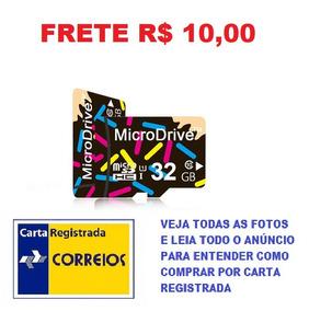 Cartão De Memória Micro Sd 32gb Classe 10 Hc Frete R$ 10,00