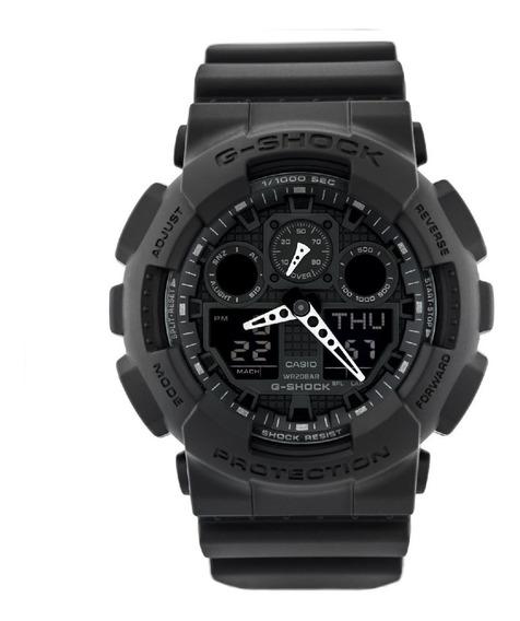 Relógio Casio G-shock Anadigi Preto Masculino Ga-100-1a1dr