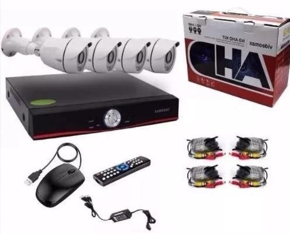 Kit De Seguridad Dvr + 4 Camaras Hd Int Ext Full Hd Hdmi