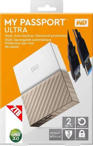 Disco Rigido Hd Externo Wd 2tb Ultra My Passport Usb 3.0