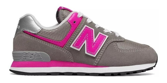 New Balance Zapatilla Lifestyle Niña Pc574gp Gris Rosa Fkr