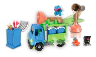 Flush Force Camion Playset + Figuras Original Jyj Educando