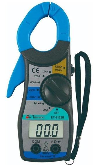Alicate Amperímetro Digital Et-3122b Minipa