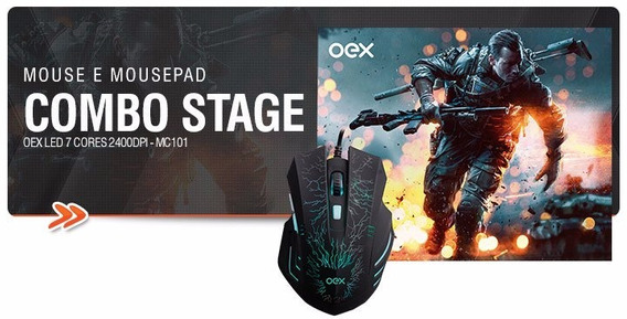 Mouse Com Mousepad Combo Stage Mc-100