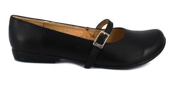 Zapato Escolar Negro Piel Num 23.5 Mx Felipe Renteria C54