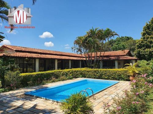 Chácara Maravilhosa Com 06 Dormitórios, Piscina, Espaço Gourmet, Internet À Venda, 4000 M² Por R$ 700.000 - Zona Rural - Pinhalzinho/sp - Ch0670