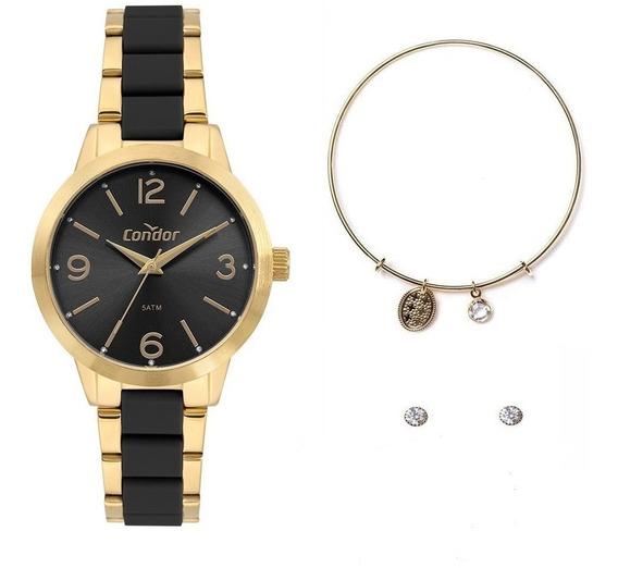 Relógio Condor Feminino Kit Co2035mrf/k5p Vai Com Brinde