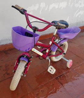 Bicicleta De Nena Rodado 12 Marca Bmx- Usada