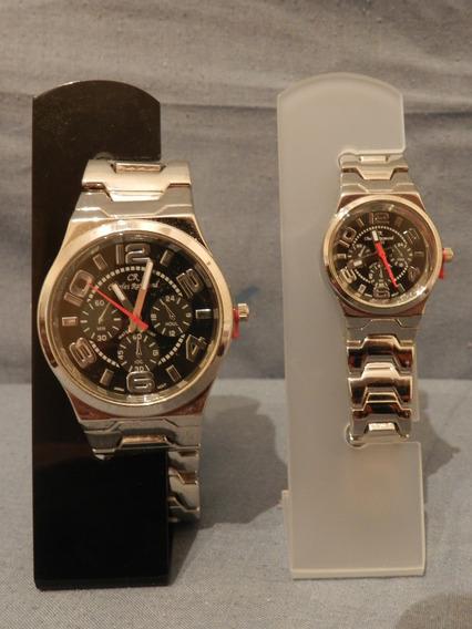 Relógio Charles Raymond Masculino E Feminino Fundo Preto