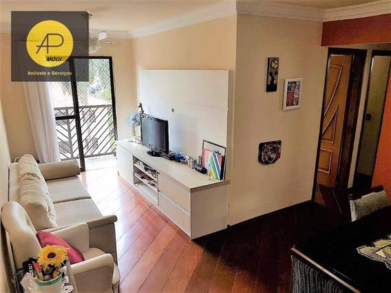 Apartamento Com 3 Dormitórios À Venda, 74 M² Por - Parque Santana - Mogi Das Cruzes/sp - Ap0175